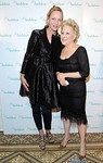 Uma Thurman, left, and Bette Midler pose together at The National Audubon Society's first gala to jointly award the Audubon Medal and the inaugural Dan W. Lufkin Prize for Environmental Leadership, Thursday, Jan. 17, 2013, in New York.  (Photo by Diane Bondareff/Invision for The National Audubon Society)