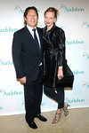 Uma Thurman and Arki Busson attend The National Audubon Society's first gala to jointly award the Audubon Medal and the inaugural Dan W. Lufkin Prize for Environmental Leadership, Thursday, Jan. 17, 2013, in New York.  (Photo by Diane Bondareff/Invision for The National Audubon Society)