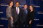 Joe and Ali Torre, Bob Costas, and wife Jill Sutton, on the red carpet before the 10th anniversary Joe Torre Safe At Home Foundation gala. Photo Credit: Josh Sailor Photography