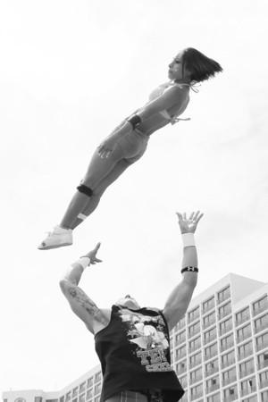 Stunt Fest 1F68A2000 BW