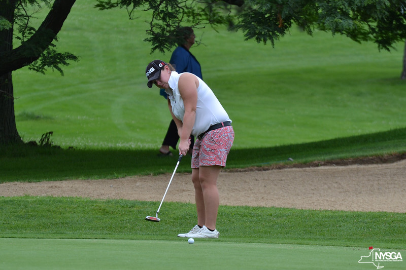 Lauren Petty (Timber Banks Golf Club) makes her birdie putt on the 11th hole in Round 2 at the CC of Ithaca.