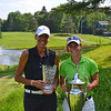 2013 N.Y.S. Women's Amateur Champion Jenna Hoecker (left) and Mid-Amateur Champion Teresa Cleland