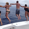 "Jumping in the Gulf Stream after fishing the Lady's Big Rock on the ""yellowfin"" boat.<br /> Submitted by Nancy Marlette"