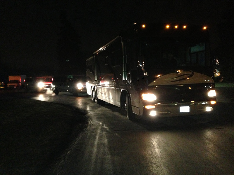 The RV and two vans headed from Addison, IL to Newtown, CT at 3:15 CST January 1, 2013