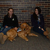 LCC K-9 Comfort Dog Luther with handlers Katie Hetzner and Kylie Yocum at Newtown High School