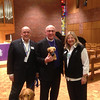 LCC staff members Rich and Dona Martin with Atlantic District President Rev. David Benke.  Also pictured is LCC K-9 Comfort Dog Luther.