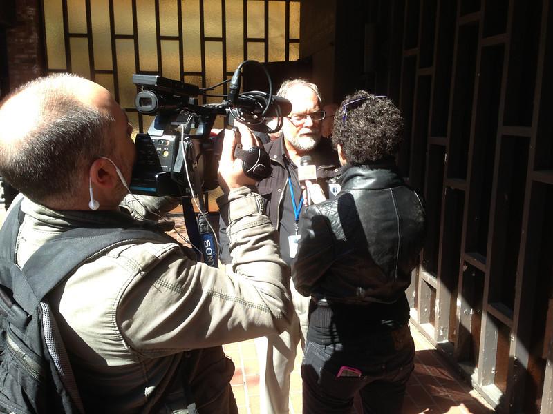 LCC President, Tim Hetzner, being interviewed by Sky Italy TV.