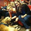 K-9 Comfort Dog Shami comforts students at Our Father Lutheran Church's youth group on Sunday, December 15th.
