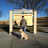 Moses and his handlers, Nancy and Shawn (pictured), have arrived in Colorado.