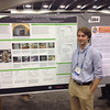 RESESS 2013 intern Garth Ornelas at his poster resulting from RESESS research at AGU 2013.