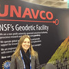 RESESS alumnus Katherine Fornash at the UNAVCO booth at AGU 2013.