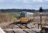 22054 arrives at Portarlington with the 1215 Heuston - Portlaoise. Sat 20.04.13