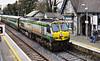 218 arrives at Portlaoise with the 1000 Heuston - Cork. Fri 12.04.13