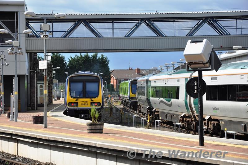 29026 stabled in Drogheda Station. Sun 11.08.13