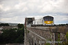 9003 crosses the Boyne Viaduct at Drogheda with the 1300 Enterprise service from Belfast Central to Dublin Connolly. Sun 11.08.13