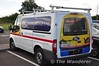 Garrandale Rail Vans have a UK LOROL Class 172 DMU on the rear of their Vans. Fri 02.08.13