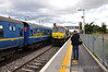 As the RPSI Special was being shunted into the Up Loop for 461 to run around, 222 came hammering through the station L.E. while working to Drogheda. There is a regular L.E. movement to Drogheda each Sunday, but it is booked for an 071 class. So this unusual sight got me thinking......Sun 11.08.13