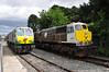222 and 081 stand side by side on the Navan Branch at Droghehda. 222 was hardly going to be one of tomorrow's Tara locomotives? Sun 11.08.13