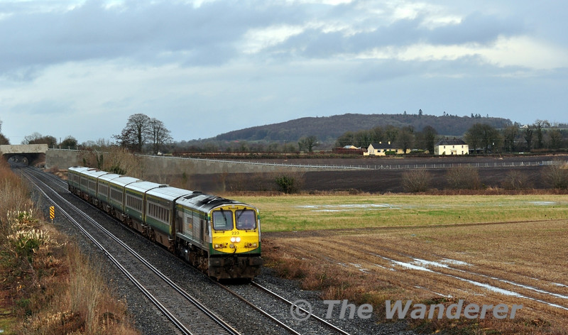 "My last picture of 2013 shows 223 passing Carn with the 1300 Heuston - Cork.  2014 will hold another interesting year for the MKIV Fleet with further fleet size reductions planned. Tues 31.12.13 <br><br> Finally, I will take this opportunity to wish you all a Happy New Year and thank you for viewing the website during 2013. <br><br> Want to see the highlights of 2013? Then <a href=""http://thewandererphotos.smugmug.com/FeaturedGallery/2013-A-Year-in-Review#!/i-CHsGpnW"" target=""_blank"">click here</a> to view the 2013 Year in Review Gallery."