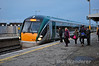22056 arrives at Portarlington with the 1535 Heuston - Galway. Mon 16.12.13