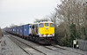 A fully loaded 1130 Waterford - Ballina DFDS Liner passes Monastervin with 075 in charge. Mon 16.12.13