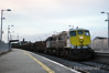 079 rolls through Portarlington with the 90 minute late 1105 Ballina - Waterford Timber. The train was slowing to a halt across from 075 in the Down Loop so the drivers could cross trains. Mon 16.12.13