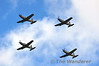 PC9's in formation over the River Liffey for Flightfest. Sun 15.09.13