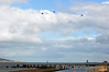 Two AW139's and One EC135 from the Aer Corps pass over Poolbeg for Flighfest. Sun 15.09.13