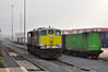 074 stands spare at Ballina. In the backround is the IWT Liner which will depart for Dublin's North Wall on Monday morning. Sat 23.02.13