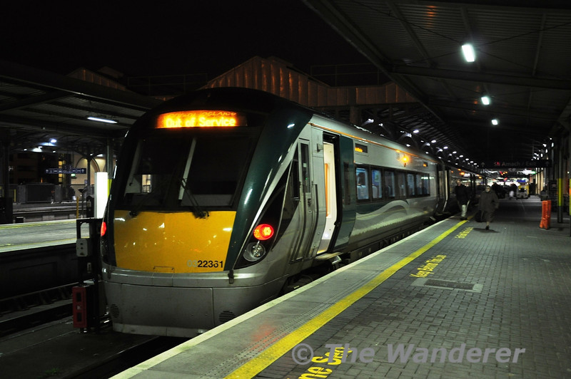 22061 at Heuston with the 1855 to Portlaoise. Wed 14.02.13