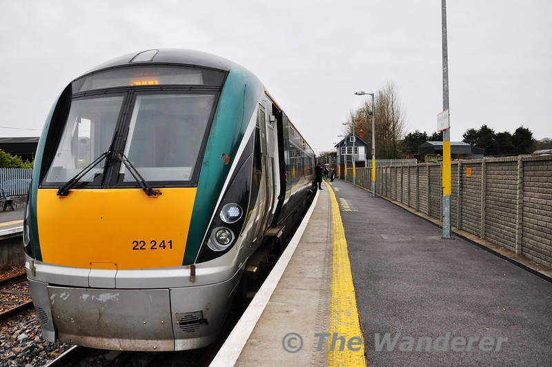 22041 at Boyle with the 1105 Connolly - Sligo. Sat 23.02.13
