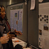 RESESS director Aisha Morris at her poster at the 2013 annual GSA meeting in Denver.