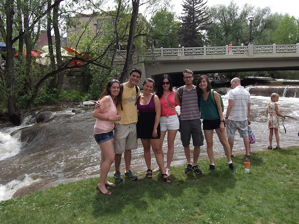 Boulder Creek Festival-May 25, 2013 with RESESS interns (from left to right) Gina, Brian, Amy, Amanda, Garth and Mia