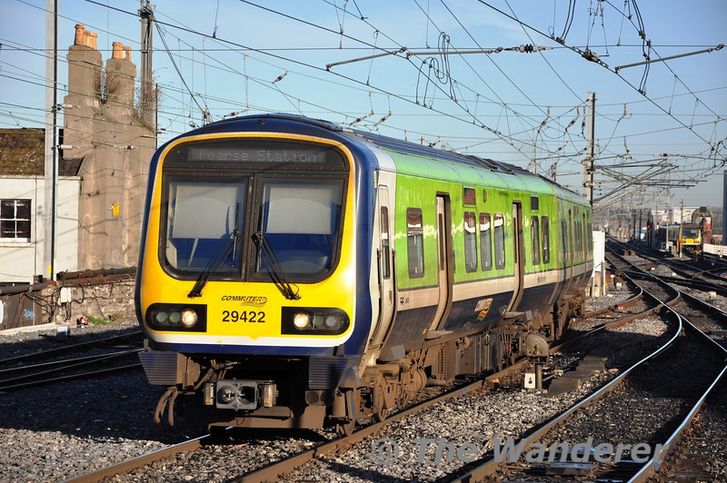 29022 1240 Maynooth - Pearse arrives at Connolly. Wed 09.01.13