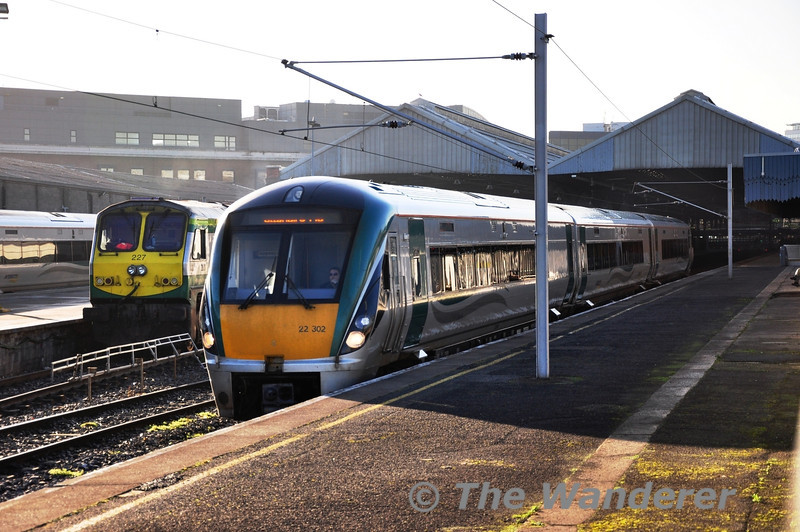 22002, with its non standard number placement, departs Connolly with the 1315 to M3 Parkway. Wed 09.01.13