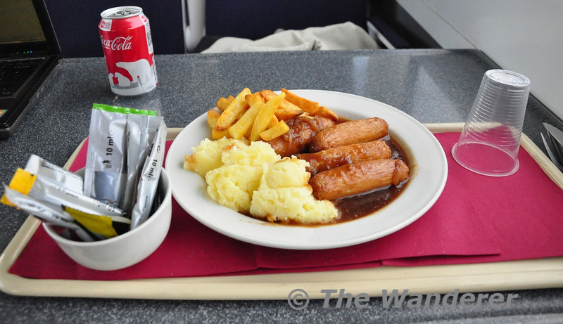 Special of the Day onboard the 1300 Heuston - Cork. Bangers and Mash. Fri 11.01.13