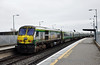 232 pushes the 1130 Cork - Heuston out of Portarlington. Fri 11.01.13