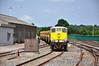 072 arrives at Mallow with the 1145 Lisduff - Mallow Autoballast train. Sat 13.07.13