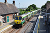 222 propells the 0920 Cork -Heuston out of a sunny Portlaoise. Fri 19.07.13