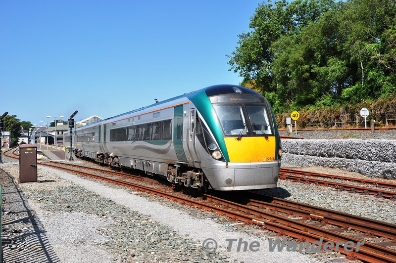 22048 departs Killarney for Mallow with the 1105 ex Tralee. Thurs 18.07.13