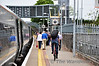 Passengers leave the 1325 Heuston - Limerick at Thurles. Sun 02.06.13