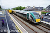 22003 stands at Rosslare Strand with the 0940 Connolly - Rosslare Europort. In the loop road 071 waits to depart for Waterford with the Weedspray train. Fri 14.06.14<br /> <br /> Photo courtesy of Mr. Church.
