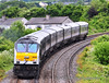 (8)208 brings up the rear of the 1235 Belfast Central - Dublin Connolly at Skerries. Fri 28.06.13