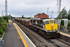 The driver gradually applies power to 086 to get its 825 tonnes train underway as it rejoins the main line at Skerries after being looped to allow a Enterprise service to overtake. Fri 28.06.13