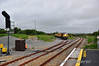 071 arrives into Rosslare Strand with the Weedspray Train from Waterford. Fri 14.06.13