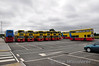 Callinan Coaches now have ex Dublin Bus Volvo Olympian/Alexander(Belfast) RV556, 558, 560, 563, 568, 587, 588, 596, 625 and 631 on park and ride shuttle from M3 Parkway for Intel workers whilst construction work takes place at the plant in Leixlip. 9 of the buses are pictured at M3 Parkway with RV560 missing. Fri 28.06.13