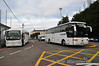 Rail Replacement Buses outside Mallow Station with transfers to Cork and Thurles. Sat 23.11.13