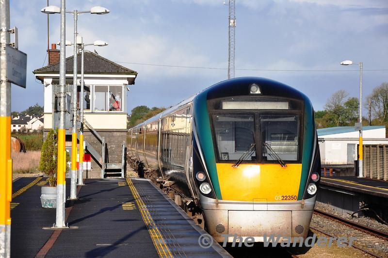 22006 + 22050 depart Claremorris Station bound for Westport. Fri 01.11.13