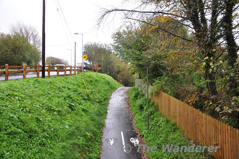 The Great Western Greenway in Westport. Looking from the Castlebar Road towards the Railway Station at Westport. Sat 02.11.13