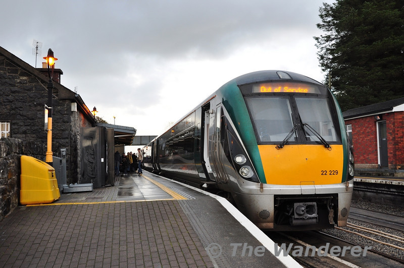 22029 + 22010, a 7 car formation at Westport with the 1245 ex Heuston. Sat 03.11.13